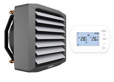 Aérotherme à eau chaude 65kW FLOWAIR + Régulateur automat. programable 3vit. HMI