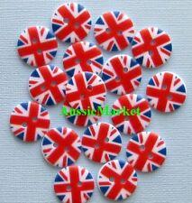 10 x union jack uk british britain flag sewing buttons mens ladies shirt craft