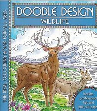 Wildlife Colouring Book - Doodle Design - Art Therapy, New