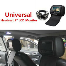"12V Headrest 7""LCD Monitor w/DVD Cover Remote Control Headset USB/SD/MS/MMC card"