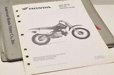 2003 XR70R XR70 R GENUINE Honda Factory SETUP INSTRUCTIONS PDI MANUAL S0120