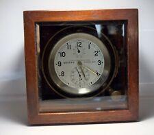 Vintage WEMPE HAMBURG 7582 Ship Chronometer Clock With Case / Germany