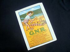 LOVELY ILLUSTRATED POSTER~REPRINT~G.N.R. GREAT NORTHERN RAILWAY~SIZED A4