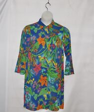Linea by Louis Dell'Olio Tiger Lily Print Duster Size S Twilight Multi