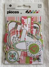 NEW Basic Grey Olivia Pieces Die-Cut Shapes - 17 Pieces