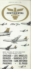 Continental Airlines system timetable 6/11/61 [0098]