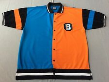 VINTAGE 90S BOSS SNAP BUTTON JERSEY POLY SPANDEX SHIRT MENS XXL, 2XL HIP-HOP!