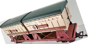Aristocraft Art-22048 Napa Valley Wine Train Piggyback Flat Car 2 Trailers 1996