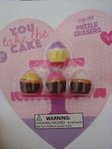 Cupcake Erasers lot of 5 sets