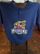 TOLEDO MUD HENS Ohio Minor League Button Up baseball T shirt Muddy Mascot 13 L