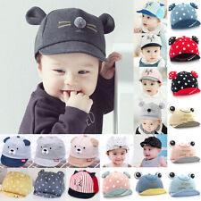 Infant Kid Baby Girl Boy Bonnet Cute Ear Hats Adjustable Sun Baseball Peaked Cap