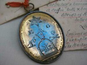 Rare Georgian Masonic Knights Templar Personal Jewel To Lieut.W.Harpur.
