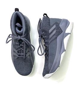 Adidas Cloudfoam 10 Streetfire Basketball Shoes Gray Men's