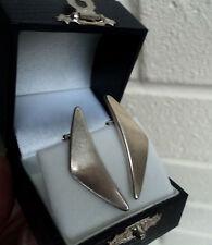 Vintage Danish Sterling Silver Modernist Earrings  no. 432  Hans Hansen Denmark