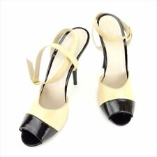 369fa3ab5 Chanel Flip Flops Black Beige Woman Authentic Used T6718