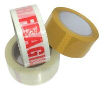 Extra Long Packaging Tape BROWN-CLEAR-FRAGILE 48mmx91M (100yards) Packing Rolls