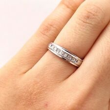 925 Sterling Silver Real Diamond Ring Size 5