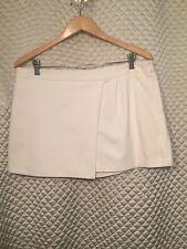 Zara NWT Ivory Short Skort Size XL