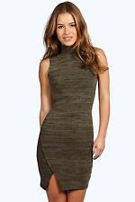 Polo Neck Sleeveless Dresses Size Petite for Women