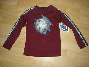 NWT Marvel Avengers End Game Thanos maroon 3D long sleeve shirt boys XS 4/5