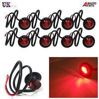 8 Piezas 3 LED Rojo Redondo Trasero Intermitente Lateral Luces 12V Para Camión