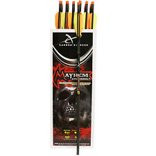 "Carbon Express Crossbolt Mayhem 20"" Half Moon Bolt 6pk Crossbow Arrows 52130"