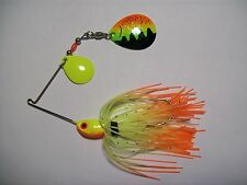 SPINNERBAIT 1/4oz FIRETIGER COLORADO BLADES ORANGE/CHARTREUSE (FIRETIGER) BASS