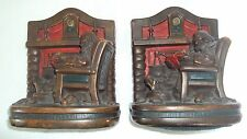 1920 Armor Bronze G.S. Allen Bookends