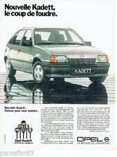 PUBLICITE ADVERTISING 016  1985  OPEL KADETT  voiture de l'année