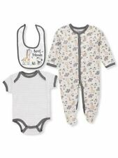 Buster Brown 3 Piece Baby Boys Giraffe Layette Gift Infant Set Footie Bib Bodysu