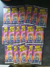 Mars Attacks Trading Cards X 17 Sealed Booster Packs TOPPS