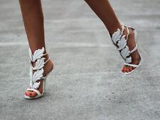 $1595 New Giuseppe Zanotti Grey Suede Wing open toe Sandals 40.5 US 10.5 HOTT!