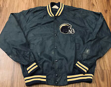 Vtg San Diego Chargers Chalkline Jacket Mens Medium Satin NFL Button Up Snaps