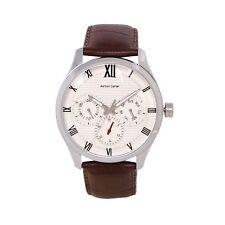 Ashton Carter Multi Function Silver / Brown Watch - AC-1005- 2 Year MANUF WRNTY