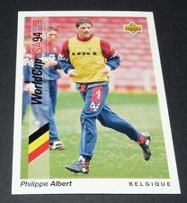 ALBERT BELGIË BELGIQUE DIABLES FOOTBALL CARD UPPER DECK USA 94 PANINI 1994 WM94