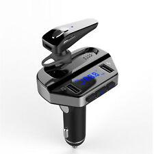 KIT VIVAVOCE BLUETOOTH MP3 PER AUTO FM TRASMETTITORE UNIVERSALE SUPPORTO USB V6