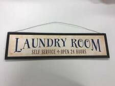 Laundry Room Self Service wooden country home decor wall sign