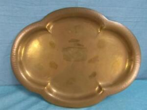 Tablett Antik Servierhilfe Teller Messing Wesam Verziert Formschön Schale 011b5