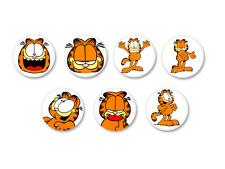 Lot Pack Magnet Aimant Ø38mm Garfield Chat Bande Dessinée Comic Strip