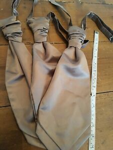 Antique Old Gold Cravats X 3 Satin