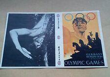 Munich 1972 Juegos Olímpicos Esso Adhesivo #13 BERLIN 1936 #28 M Rose 1960 sin usar en muy buena condición