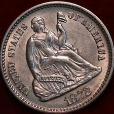 Uncirculated 1872 Philadelphia Mint Silver Seated Half Dime