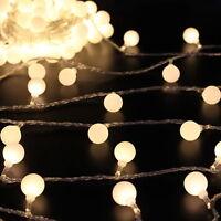 5M/ 16.4Ft Globe Ball Patio String Lights Fairy Warm White RGB 40 LED Lamp 220V