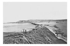 NEWCASTLE - NSW -  view from the Nobbys circa 1892 modern Digital Photo Postcard
