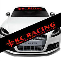 Car Front Reflective Windshield Decal Window Vinyl Banner for KC RACING Sticker