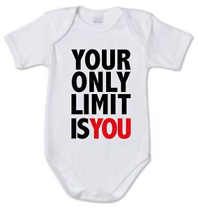 BODY tutina bimbo neonato J2154 Your Only Limit Is You  Senza Tumblr Frase Cit
