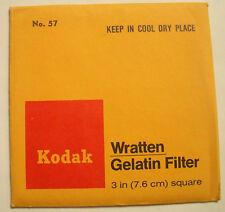 "KODAK WRATTEN GELATIN FILTER NO 57 3"" or 75mm Square"