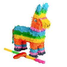 Donkey Pinata Buster Stick Blindfold Set Game Toy Party Birthday Kids Large