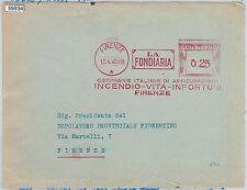 59934 - REGNO - STORIA POSTALE : Annullo ROSSO MECCANICO su BUSTA : la FONDIARIA