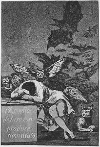 Francisco de Goya - Sleep of Reason Vintage Fine Art Print